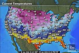 temperature map usa january isobars and isotherms climate education modules for k12 weather
