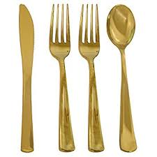 disposable cutlery 200 gold cutlery set for 50 guest and