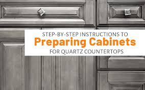 what color quartz with cabinets step by step to preparing cabinets for quartz