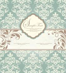 Wallpaper Invitation Card Wedding Invitation Card With Floral Background U2014 Stock Vector