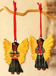 set of five guatemalan folk ornaments ornaments