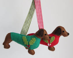 dachshund ornament etsy