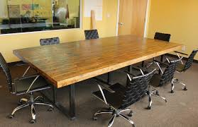 Oak Meeting Table Custom Made Reclaimed Oak Conference Table By Defiance Hardwood