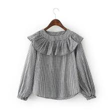 Black And White Plaid Shirt Womens Online Get Cheap Black Check Women Aliexpress Com Alibaba Group