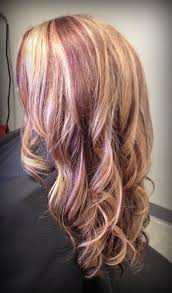 low light colors for blonde hair blonde with red lowlights my work at the salon pinterest