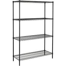 Keter Plastic Shelving Hyper Tough 4 Shelf Commercial Grade Wire Shelving System With