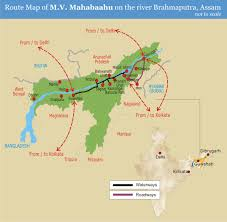 India River Map by River Cruises India
