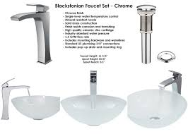 Bathtub Faucet Height Standard White Frost Glass Vessel Sink