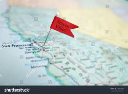 San Francisco Area Map by Silicon Valley Flag Pin Map San Stock Photo 448884280 Shutterstock