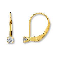 baby hoop earrings jared baby hoop earrings white topaz 14k yellow gold