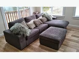 Storage Ottoman Ikea Like New Ikea Kivik Loveseat Sofa With Chaise Matching Ottoman