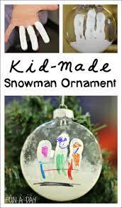 snowman fingerprint ornament fingerprints trees and kid