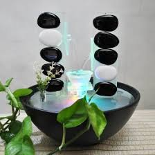 creative ceramic water fountains wind pool table ornaments