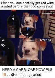 Red Wine Meme - when you accidentally get red wine wasted before the food comes