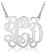 monogram necklace silver apples of gold silver sterling monogram necklace tradesy