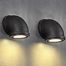 corner ceiling light fixtures loft corner rustic water pipe wall light sconces l 90 260v iron