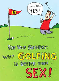 funny golf cards cardfool free postage included