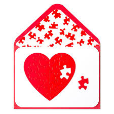 heart puzzle valentine u0027s day cards papyrus