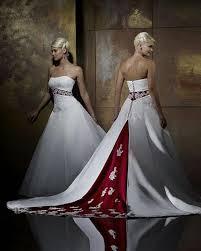 Red Wedding Dresses Stock Photo Red Wedding Dresses