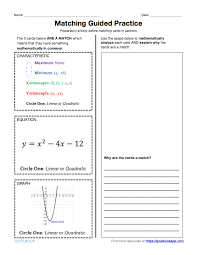 hsf if 4 key features of graphs and tables math high
