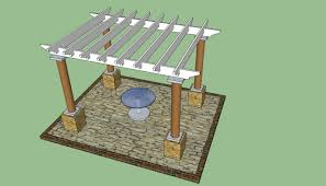 Plans For Patio Table by Exterior Design Scetch Of Pergola Plans For Patio Decoration Ideas