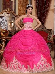 quinceanera pink dresses pink gown strapless floor length organza beading quinceanera
