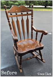 Real Wood Rocking Chairs Deco Rocking Chair Before And After