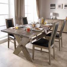 dining room table and chairs aluminum railings mission style
