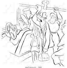 clip art of a retro vintage coloring page outline of many people