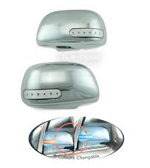 chrome mirror cover led fit toyota hilux vigo sr5 mk6 fortuner
