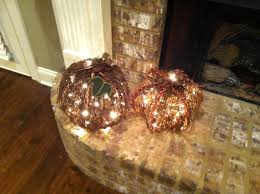 grapevine lite pumpkins from hobby lobby great for autumn decor