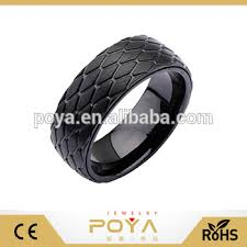 mens spinner rings poya jewelry speed ring diamond pattern black stainless mens