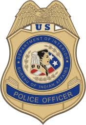 us bureau of indian affairs u s bureau of indian affairs bia officer badge vector image