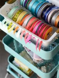 Organize Gift Wrap - organizing ribbons bows gift tags and other gift wrap