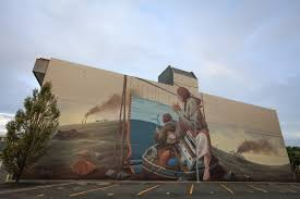 modern mural pat perry paints symbolic mural for seawalls in new zealand u2014 urbanite