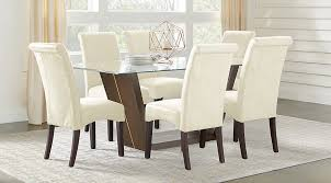 espresso rectangular dining table ambassador place espresso 5 pc rectangle dining room with glass top