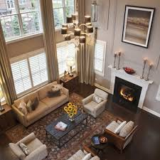 Best Two Story Family Room Images On Pinterest Living Room - Curtains family room