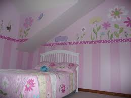 hand painted stripes and flower border in twin girls room to match hand painted stripes and flower border in twin girls room to match pottery barn bedding