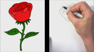how to draw a rose quick and easy tutorial video dailymotion