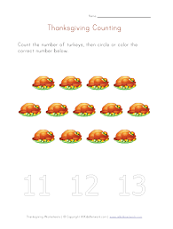 thanksgiving count to thirteen worksheet thanksgiving crafts and