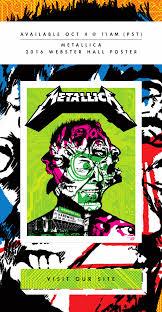 inside the rock poster frame blog ames bros metallica webster
