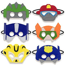 Rescue Bots Favors by Transformer Rescue Bots Inspired Masks Favors Boy Birthday