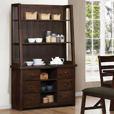 julius buffet and hutch in rustic walnut finish by coaster 103764