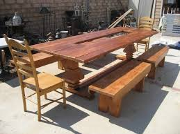 Custom Built Dining Room Tables by Custom Made Dining Table With Built In Herb Garden By Oldpine