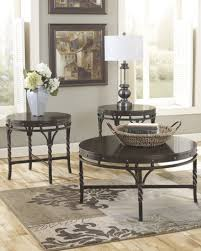 coffee table scenic carved cherry coffee table set by serta