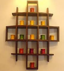 Wooden Wall Shelves Contemporary Wood Display Wall Hanging Shelves Decor Curio Shadow