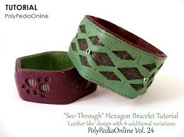 bracelet patterns leather images Polypediaonline polymer clay see through bracelets and ring jpg