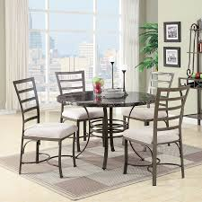 round dining sets shop acme furniture daisy beige 5 piece dining set with round