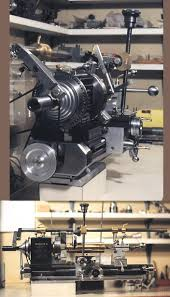 taig lathe with a unimat type of threading attachment allowing the