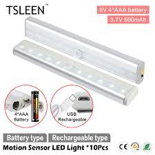 compare prices on garage lighting design online shopping buy low tsleen 10x cabinet pir motion sensor led cupboard shed garage light usb battery powered 10leds